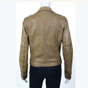 Blu Pepper Jackets & Coats - BLU PEPPER VEGAN LEATHER SM MOTO JACKET IN CARMEL